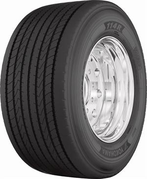 Yokohama officials say the new 114R UWB regional-haul trailer tire delivers fuel efficiency and longer tread life.