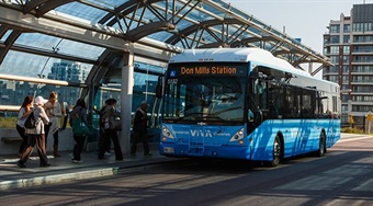 INIT has worked closely with York Region Transit (YRT) to develop, test and roll out MOBILE-ECO2 on all new vehicles, while also working to integrate into later models. Photo: YRT/VIVA
