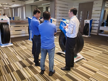 During the meeting customers has the opportunity to check out ZC Rubber's later product lineup.