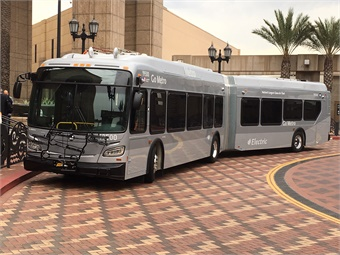 Metro Takes Delivery of First 60-foot Zero Emission Electric Bus for Orange Line.