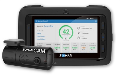 Zonar Coach is an advanced driver assistance system that can identify proper and risky driving behavior and provide instruction to drivers in real time.