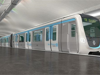 """The first 44 trains will have a driver's cabin. Each train will be in """"boa""""2 configuration with modern passenger information systems, large bay windows, and themed 100% LED lighting. Bombardier"""