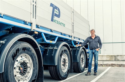 The first truck tires produced at Apollo's Hungary factory were recently delivered to a transportation company in Belgium.