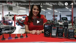 ATEQ's Sheila Stevens explains the differences between solid and flashing TPMS lights.