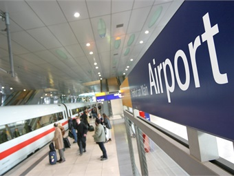 It takes only 15 minutes to travel by rail to the city's main station.