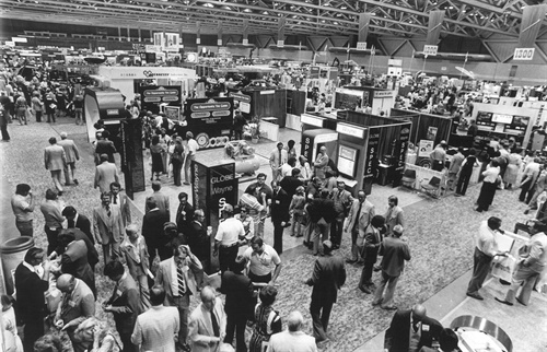Except for the color, the trade show floor at the 1979 NTDRA convention doesn't look too different than it does at the Global Tire Expo in Las Vegas, does it?