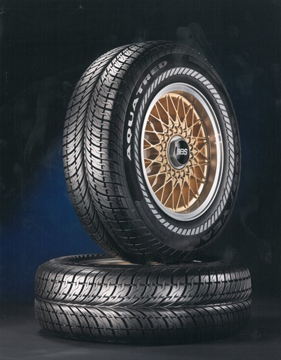 Goodyear said the original Aquatred tire was based on a concept tire created in 1982 for Walt Disney World's EPCOT (Experimental Prototype Community of Tomorrow) theme park.