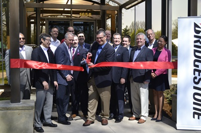 """In addition to the many Bridgestone Americas executives who attended the ribbon cutting for the renovated Bridgestone Akron Data Center, Ohio Senator Vernon Sykes and Akron MayorDan Horrigan were on hand. Horrigan describes the IT jobs as """"jobs of the future."""""""