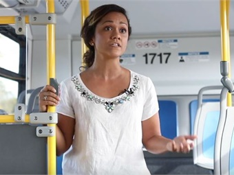 Brittany Perez is an occupational therapist and research associate in the IDeA Center who has led the bus studies. Photo courtesy of the University of Buffalo.