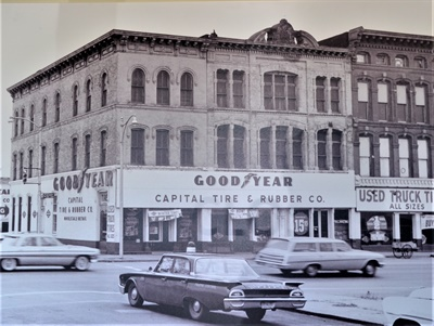 """This is Capital Tire's facility as it looked in 1960. Why was the business named Capital Tire? """"Dad could never answer that question,"""" said Tom Geiger Jr."""