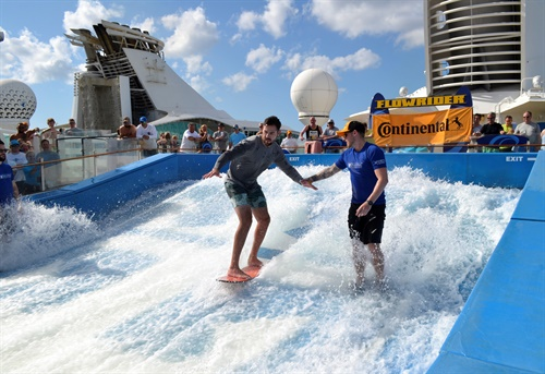 Continental dealers and their guests enjoyed water sports aboard a cruise ship as part of their reward for participating in the Continental Gold associate dealer program. Trips can be one of the many rewards offered for associate dealer group participation.