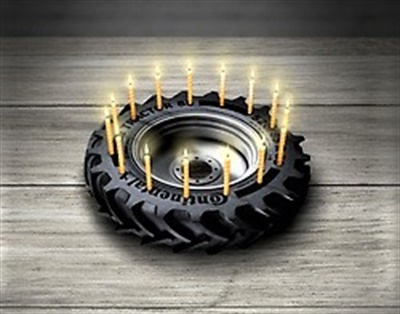 Continental launched Europe's first pneumatic agricultural tire in 1928.
