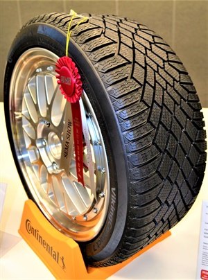 The Continental VikingContact 7 winter tire was runner-up in the Tire and Related Product Category of the SEMA Show's New Product Awards competition.