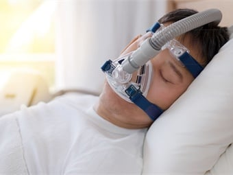 The most common treatment for obstructive sleep apnea is using a continuous positive airway pressure (CPAP) machine. Photo: Aeroflow