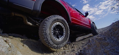 Ford's official relationship with Michelin continues, and now extends to the BFGoodrich brand on the 2017 F-150 Raptor.