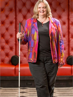 Donna Smith with cane in 2015. Photo used with permission from Donna Smith's personal collection.