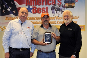 Jack Defibaugh of West Virginia (center) took the top honor in the inspector category.