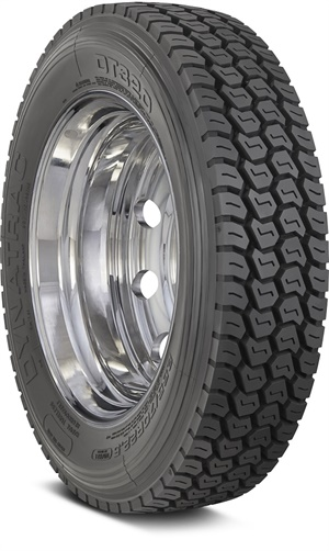 Hercules says the aggressive open shoulder design of the new DT320 drive tire helps to deliver long tread life and traction. It is available in size 255/70R22.5/16 140/137L.