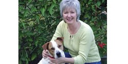 Karen Strickland and her dog, Jody, enjoy a moment in the great outdoors.