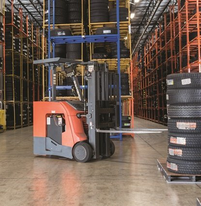 Manufacturers are offering tires with low rolling resistance to maximize an electric forklift's battery life, which helps avoid downtime to recharge batteries during a work shift.