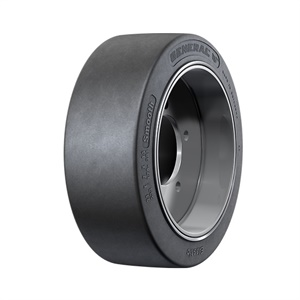 The General Tire Smooth is available in 13 sizes for indoor material handling applications.