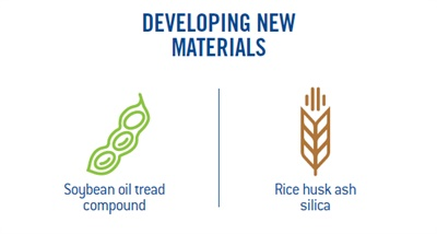 Goodyear develops new materials as part of its focus on sustainable sourcing.