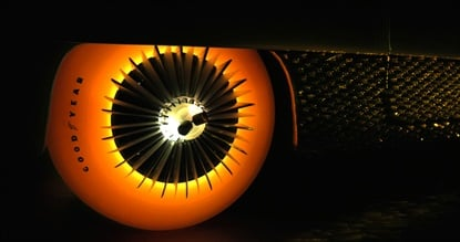 Goodyear created a new set of glowing tires to fit an old classic, the Golden Sahara II.