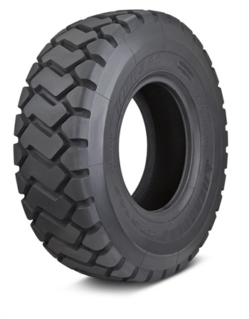 The new Hercules HDR 325 Radial E3/L3 loader tire is the first available product in the company's new line of small OTR and industrial tires.
