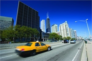 Taxis are commonly used to transport students in Chicago, among other places.iStock image © benkrut