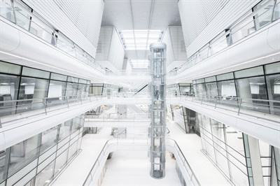 Hankook expects the look of its Technodome to inspire its scientists to develop one-of-a-kind tire technology. The design also is meant to foster connections and communication between departments and laboratories.