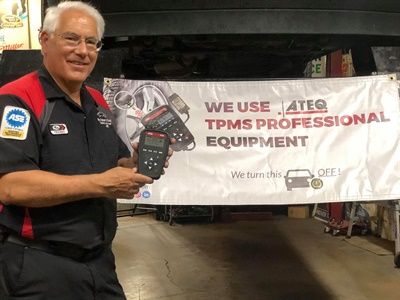 """ATEQ TPMS Tools and Jeff Buckley, owner of My Father's Shop, are collaborating on Facebook to give away two TPMS tools to high schools, technical centers or colleges during their """"Back to School"""" giveaway."""