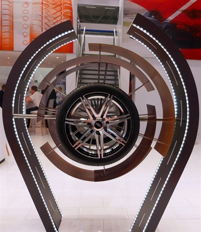 Maxxis showcased its new Maxxis VS5 ultra-high performance tire at Tire Cologne.