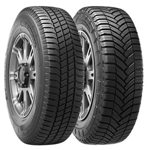 The Agilis CrossClimate's C-metric tire has a directional tread design, while the LT-metric uses a non-directional tread pattern.