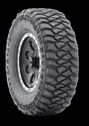 The Baja MTZP3 features a Four-pitch Sidebiter pattern designed to break up terrain for additional traction and protection.