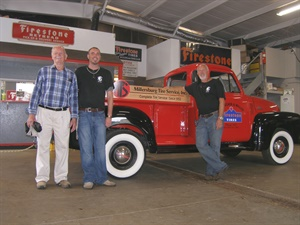 Three generations of Schmuckers: Sheldon, co-founder; Brandon, vice president; and Brad, president.