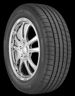 TBC says the Multi-Mile Supreme Tour LSX is ideal for drivers of performance-oriented sedans who want a tire that combines a quiet ride with advanced all-season traction and handling.