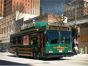 The T's Molly Trolley is a free downtowncirculator that is popular with visitors, businesses and residents.