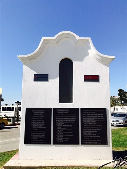The monument that bears the names of winners of the SCORE Baja 1000 was refreshed as well.