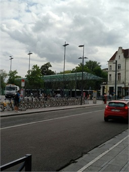 Multimodal interchange in Brussels.
