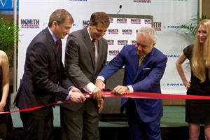 Natty at NATRE: Show organizer Gus Lima, in the periwinkle blue suit, will cut the ribbon for the third time when the North American Tire & Retread Expo opens for business on April 19.