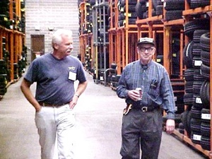 """Roland Lesieur, right, died on Feb. 13. He was a """"giant"""" in the tire industry, said TIA CEO Roy Littlefield."""