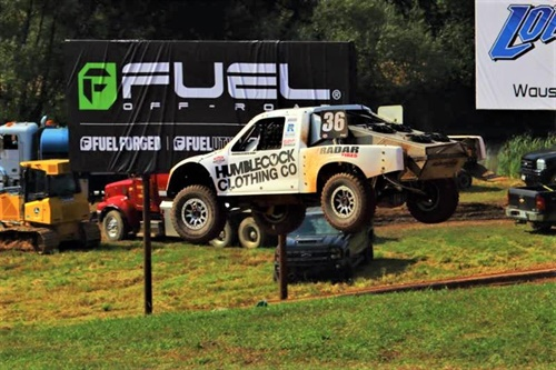 The No. 36 Radar Tires/Humblecock Clothing PRO 2 is equipped with 35x12.50R17 Radar Renegade MTs.