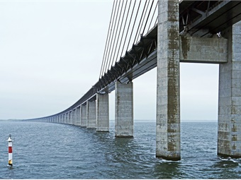 The Oresund bridge/tunnel is one of the major recent engineering achievements in Europe and is part of a larger plan of improving connectivity across the continent. Oresund bridge