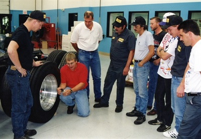 Here I am in the old ITRA Training Center teaching a commercial tire service class. Based on my waist and hairline, I'm guessing it's around 1998.