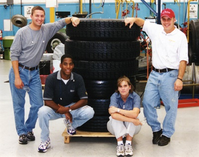 There is a certain amount of pride that goes into the craftsmanship of building your first retread as evidenced by these former ITRA retread students.