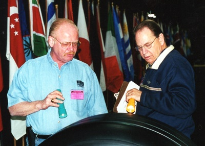 "The late Raymond ""Gus"" Hawkinson Jr. (left) was a former ARA and ITRA board member and retread appearance contest judge who put a lot of effort into grading every retread that was entered."