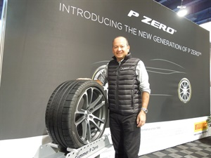 Pirelli's Rafael Navarro says the new P Zero features technology borrowed from Formula One racing.