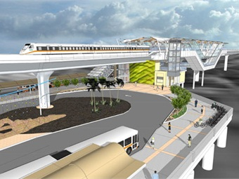 Rendering courtesy of Honolulu Rail Transit
