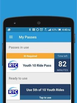RTC's new Token Transit mobile app.