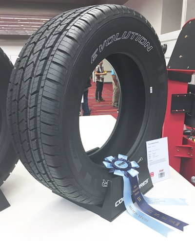 First-place: Cooper Evolution H/T is an all-season highway tire available in 28 popular sizes for CUVs, SUVs and light-duty pick-up trucks.